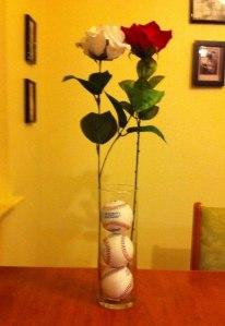 Baseballs and roses (2)